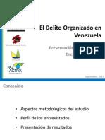I Encuesta sobre Delito Organizado en Venezuela