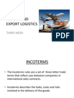 Import and Export Logistics Ingles