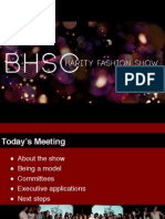 BHSc Charity Fashion Show General Meeting PPT
