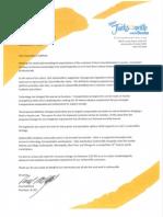September 23 Letter to Council President Gulliford
