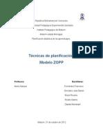 Trabajo de planificación-Modelo ZOPP