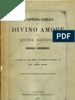 Em Swedenborg LA SAPIENZA ANGELICA sul DIVINO AMORE e sulla DIVINA SAPIENZA Loreto Scocia Firenze 1877