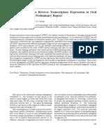Human telomerase reverse transcriptase expression in oral carcinogenesis - A preliminary report