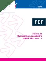 Razonamiento cuantitativo 2013-2-1