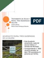 Diapositivas de La Estructura de Obras Civiles - Tratamiento de Aguas y Acueducto Tres Quebradas