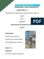 Laboratorio N°1 - Sistemas de Refrigeración y Aire Condicionado