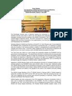 Press Release  ASEAN on  three-year Post-Nargis Recovery  and Preparedness Plan (PONREPP).