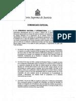 CorteSupremaHonduras_ComunicadoEspecial