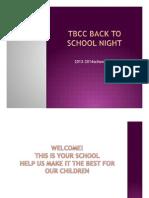 Back To School Night 2013 - 2014