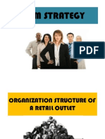 Organization Structure of a Retail Outlet