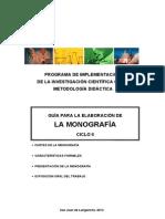 GUÍA DE MONOGRAFÍA