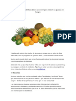 Frutas Para Diabeticos