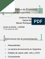 Enseñanza de la Economía- presentación final