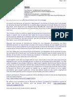 Mail de Mr Mohamed Amine HMAMOUCHI adressé à Sos Justice le 21-09-2013