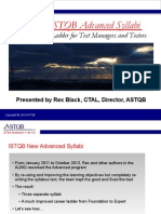 Webinar ISTQB Advanced Syllabi 2012