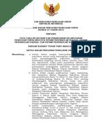 PB NO 14 TH 2012 TTG Tata Cara Pelaporan Dan Penanganan Pelanggaran Pileg
