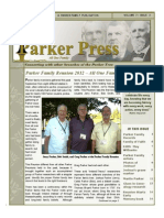 Parker Press 2012 Fall Newsletter