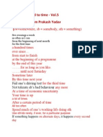 Phrases Related to Time - Vol.5