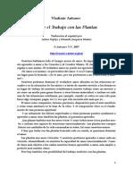 Sobre el Trabajo con las Plantas (Spanish edition)