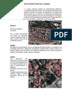 Elementos Urbanos en Santa Cruz de La Sierra