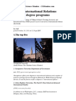 Top 25 International Relations Master's Degree Programs - CSMonitor