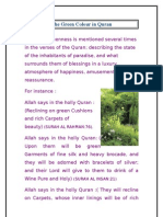 The Green Colour in Quran