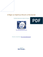 En a Paper on Hadiths of Month of Muharram