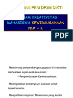 Materi Pelatihan Penulisan Proposal Program Kreativitas Mahasiswa Kewirausahaan (PKMK) 2008