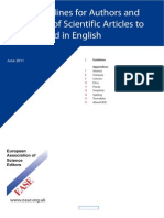 EASE_Guidelines for Authors and Translators of Scientific Articles to Be Published in English - 2011