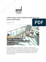 8.19.13.Latham Square marks Oakland?s latest foray into pop-up public space.Oakland Local.Oakland