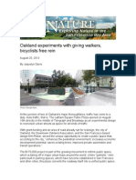 8.20.13.Oakland experiments with giving walkers, bicyclists free rein.Bay Nature.Oakland