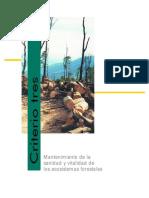 Sanidad y Vitalidad de Los Ecosistemas Forestalesr