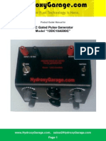 Manual for DC Gated Pulse Generator 12DC10A500C