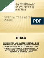 DISEÑO DE UNA  ESTRATEGIA DE INVESTIGACIÓN CON RECURSOS