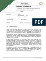 104169016 Memoria Descriptiva Instalaciones Sanitarias Sistema Indirecto Conexion Predial
