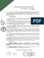 Resolucion de Alcaldia N° 399-2012