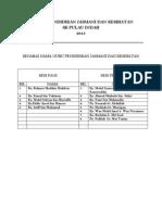 Panitia Pj - Borang Kehadiran 2013