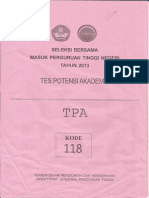 Soal TPA SBPTN 2013 kode 118