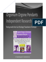 Orgonium Orgone Energy Research