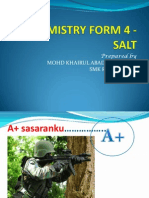 Chemistry Form 4 - Salt
