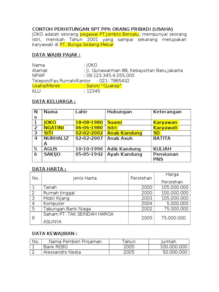 Contoh Soal Pph Potput Dan Jawabannya Bali Teacher