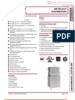 Dishwasher Spec Sheet