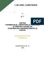 Sectia Comerciala - Decizii Relevante Trimestrul III - IV 2009 - Comercial Bun Pt Insolventa