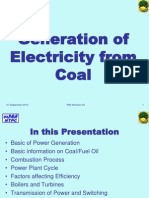 Generation of Electricity From Coal
