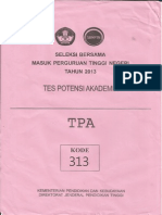 Soal TPA SBMPTN 2013 kode 313