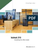 Brochure Bizhub 215