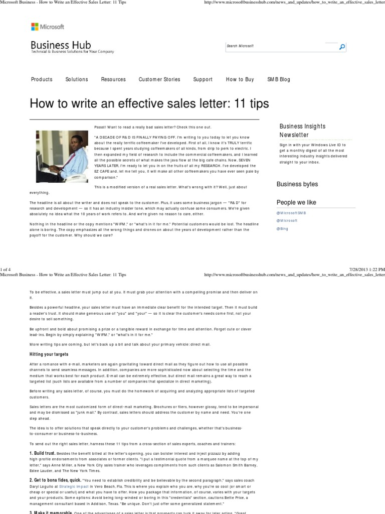 How To Write An Effective Sales Letter 11 Tips Direct Marketing