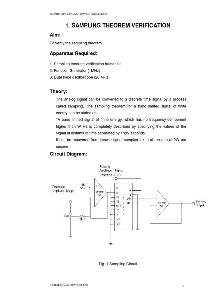 Dc Modulation Sampling Signal Processing Sinusoidal Generator Circuit Diagram Electronic Project