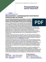 Pressemitteilung vom Berliner Wassertisch vom 27. September 2013