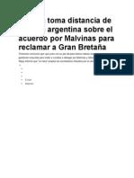 España toma distancia de versión argentina